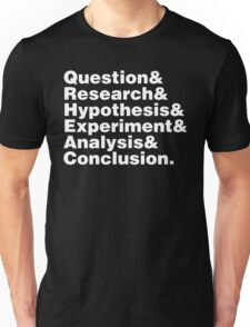 Scientific Method Helvetica Unisex T-Shirt
