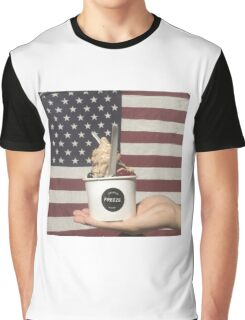 'Merica Loves Froyo  Graphic T-Shirt