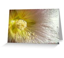 Heart Of The Hollyhock Greeting Card