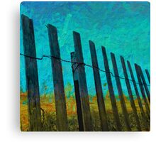Barriers to the beach Canvas Print
