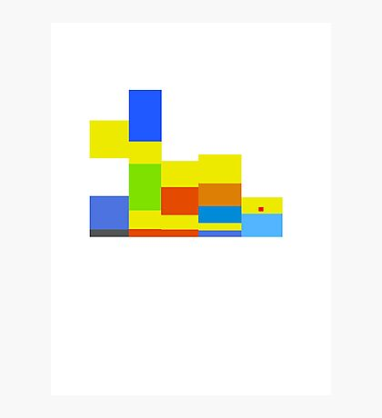 8-bit Simpsons family Photographic Print