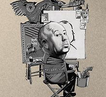 Alfred Hitchcock by Jeremy Couturier