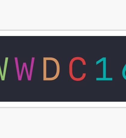 WWDC 2016 (Without Logo) Sticker