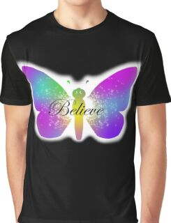 Butterfly Sparkler - Believe  Graphic T-Shirt