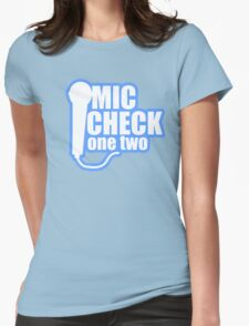 Microphone Checker Womens Fitted T-Shirt