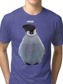 Penguin Beanie Tri-blend T-Shirt