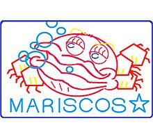 MARISCOS NEON SIGN Photographic Print