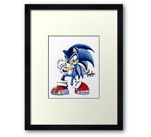 The Blue Blur, SONIC THE HEDGEHOG!! Framed Print