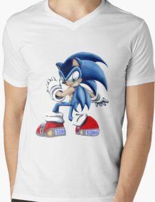 The Blue Blur, SONIC THE HEDGEHOG!! Mens V-Neck T-Shirt