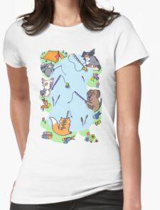 Dog gone Fishin' Womens Fitted T-Shirt