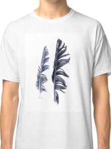 bird feathers in dark blue, illustration Classic T-Shirt