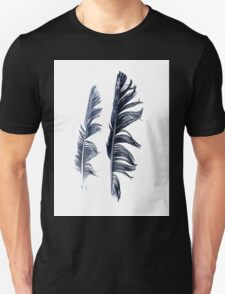 bird feathers in dark blue, illustration Unisex T-Shirt