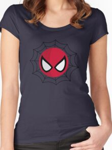 FunnyBONE Spidey Web Women's Fitted Scoop T-Shirt