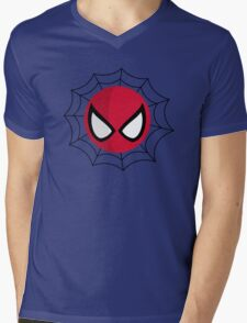 FunnyBONE Spidey Web Mens V-Neck T-Shirt