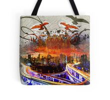 Cityscape Abstract Tote Bag