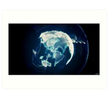 Planet Earth Particle Hologram Art Print