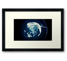 Planet Earth Particle Hologram Framed Print
