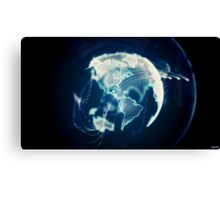 Planet Earth Particle Hologram Canvas Print