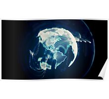 Planet Earth Particle Hologram Poster