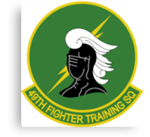 49th Fighter Training Squadron Canvas Print
