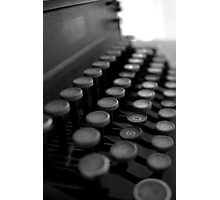 Typewriter in Black & White Photographic Print