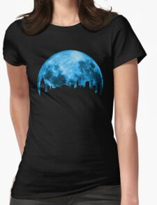 Blue Moon Over San Francisco Womens Fitted T-Shirt