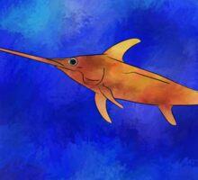 Kessonius V1 - amazing swordfish Sticker