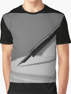 Quill in Black & White Graphic T-Shirt