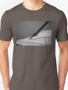 Quill in Black & White Unisex T-Shirt