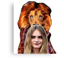 CARA THE BACON LIONESS  Canvas Print