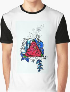 Flashy Roses Graphic T-Shirt