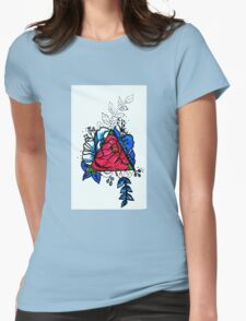 Flashy Roses Womens Fitted T-Shirt