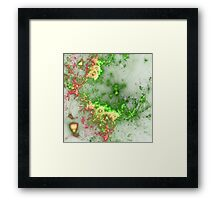 Green Fireworks - Abstract Fractal Artwork Framed Print