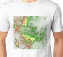 Green Fireworks - Abstract Fractal Artwork Unisex T-Shirt