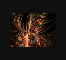 Orange Butterfly - Abstract Fractal Artwork Womens Fitted T-Shirt