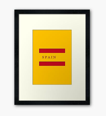 World Cup: Spain Framed Print