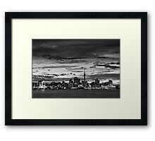 Auckland City Monochrome Framed Print