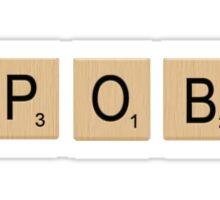 Spoby Scrabble Tiles Sticker