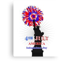 American Independence Day Happy 4th Of July Celebration Graphic Canvas Print