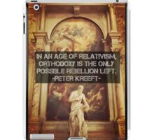 Orthodoxy is the only Rebellion left  iPad Case/Skin