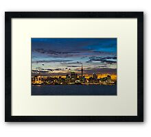 Auckland Skyline Sunset Framed Print