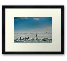 Retro Auckland Framed Print