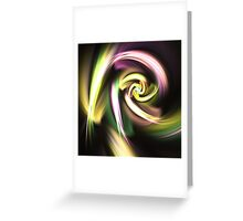 Golden Spiral - Abstract Fractal Artwork Greeting Card
