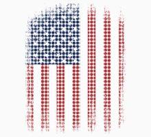 Vintage US Halftone Flag One Piece - Short Sleeve