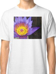 Purple Lotus Flower - Zen Art Painting Classic T-Shirt