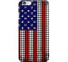 Vintage US Halftone Flag iPhone Case/Skin