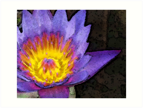 Purple Lotus Flower - Zen Art Painting by Sharon Cummings