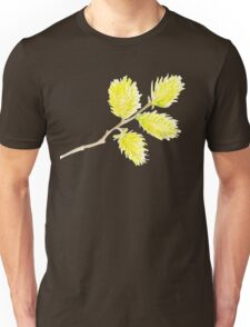 Yellow willow catkins watercolor Unisex T-Shirt
