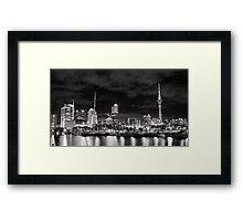 Auckland City Across the Viaduct Framed Print