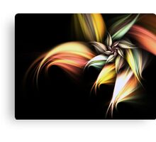 Golden Flower - Abstract Fractal Artwork Canvas Print